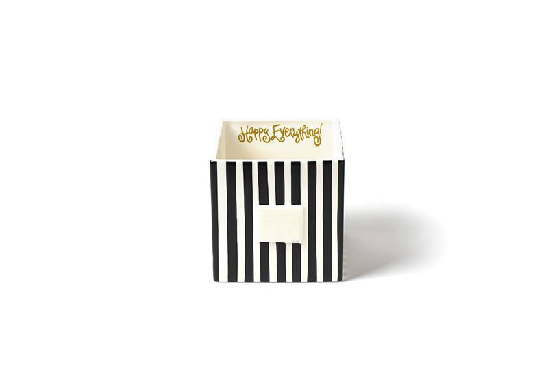 Black Stripe Mini Nesting Cube Medium