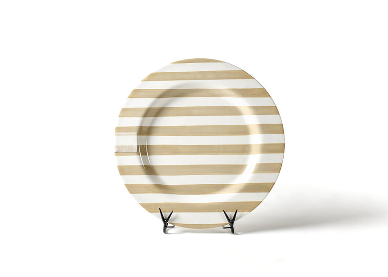 Neutral Stripe Big Happy Everything! Round Platter