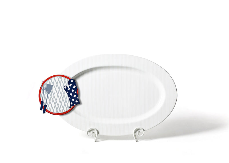 White Stripe Big Entertaining Oval Platter