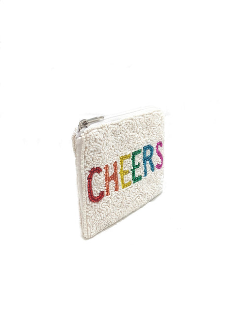 Cheers Beaded Coin Purse