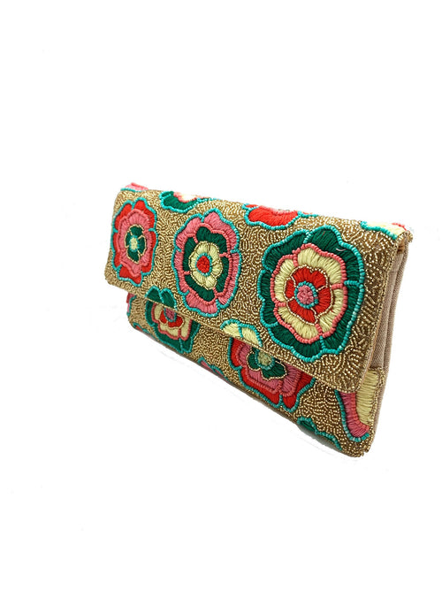 Floral to Love Beaded Clutch