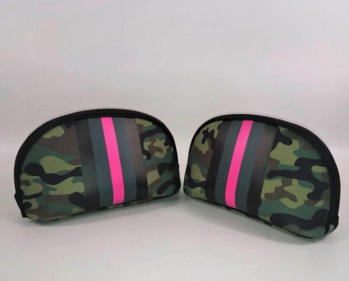 Pink Army Cosmetic Bag