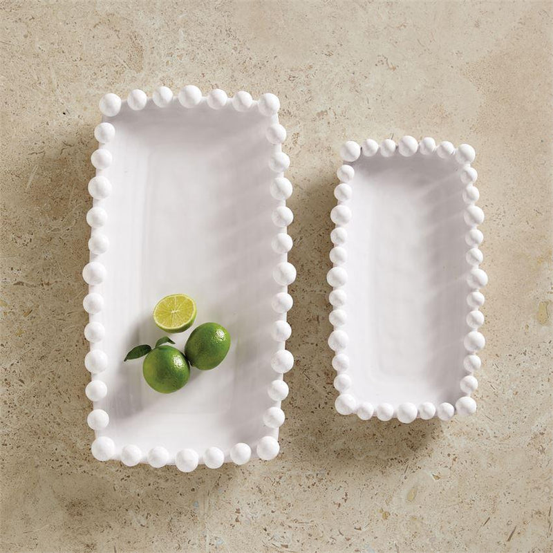 Raised Dotted Long Platters