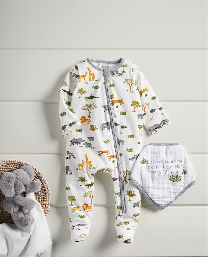 Safari Sleeper & Bib Set