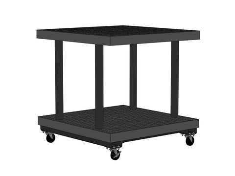 "36""W x 36""D x 37""H Two Level Grid Top Cart"