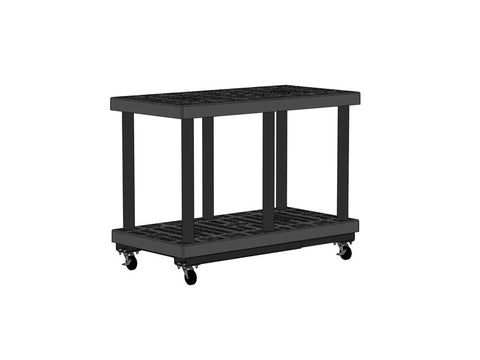 "48""W x 24""D x 37""H Two Level Grid Top Cart"