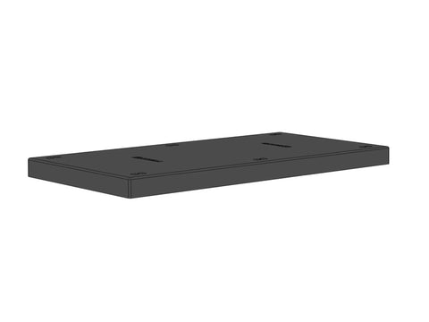 "48""W x 24""D x 3""H Solid Top Platform D-Socket Stackable"