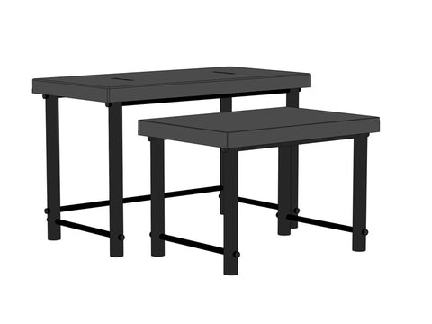 "48""W x 48""D x 30""H Nesting Tables, Set of Two"