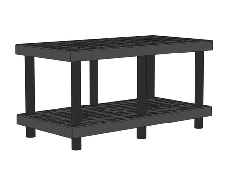 "48""W x 24""D x 24""H Two Level Raised Grid Top"
