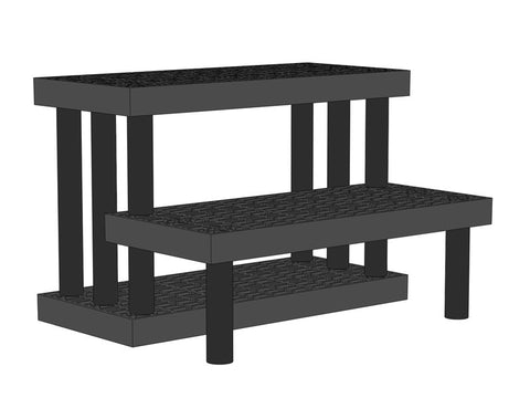 "36""W x 28""D x 24""H Two Tiered Endcap Heavy Duty"