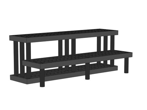 "66""W x 28""D x 24""H Two Tiered Endcap Heavy Duty"