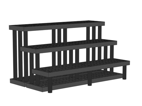 "66""W x 39""D x 36""H Three Step Single-Sided Heavy Duty"