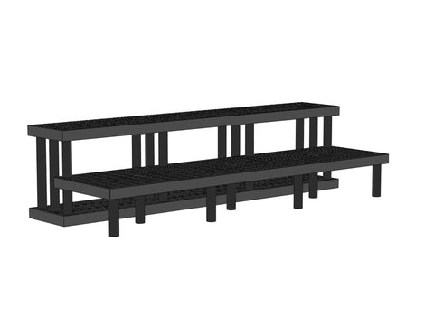 "96""W x 36""D x 24""H Two Step Single-Sided Wide Heavy Duty"
