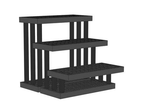 "36""W x 39""D x 36""H Three Tiered Endcap"