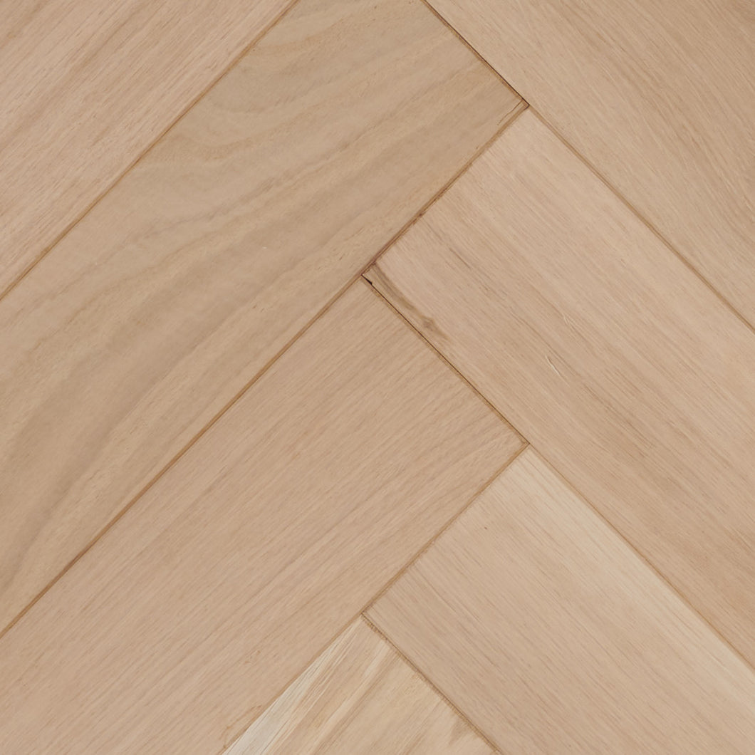 50% OFF Unfinished Solid European Oak Herringbone Parquetry - AB Grade - M2 Price Shown