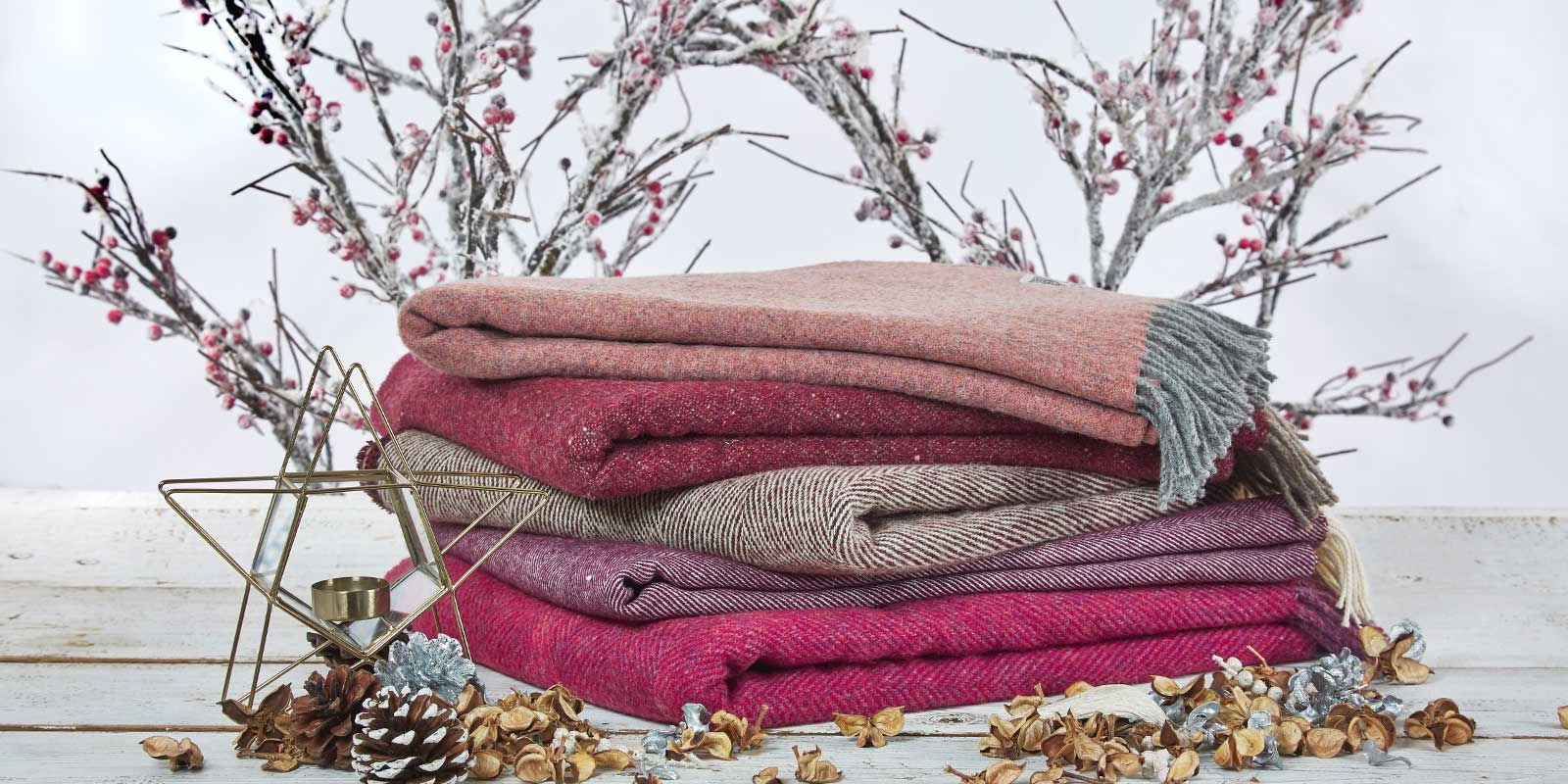 Christmas blankets and throws