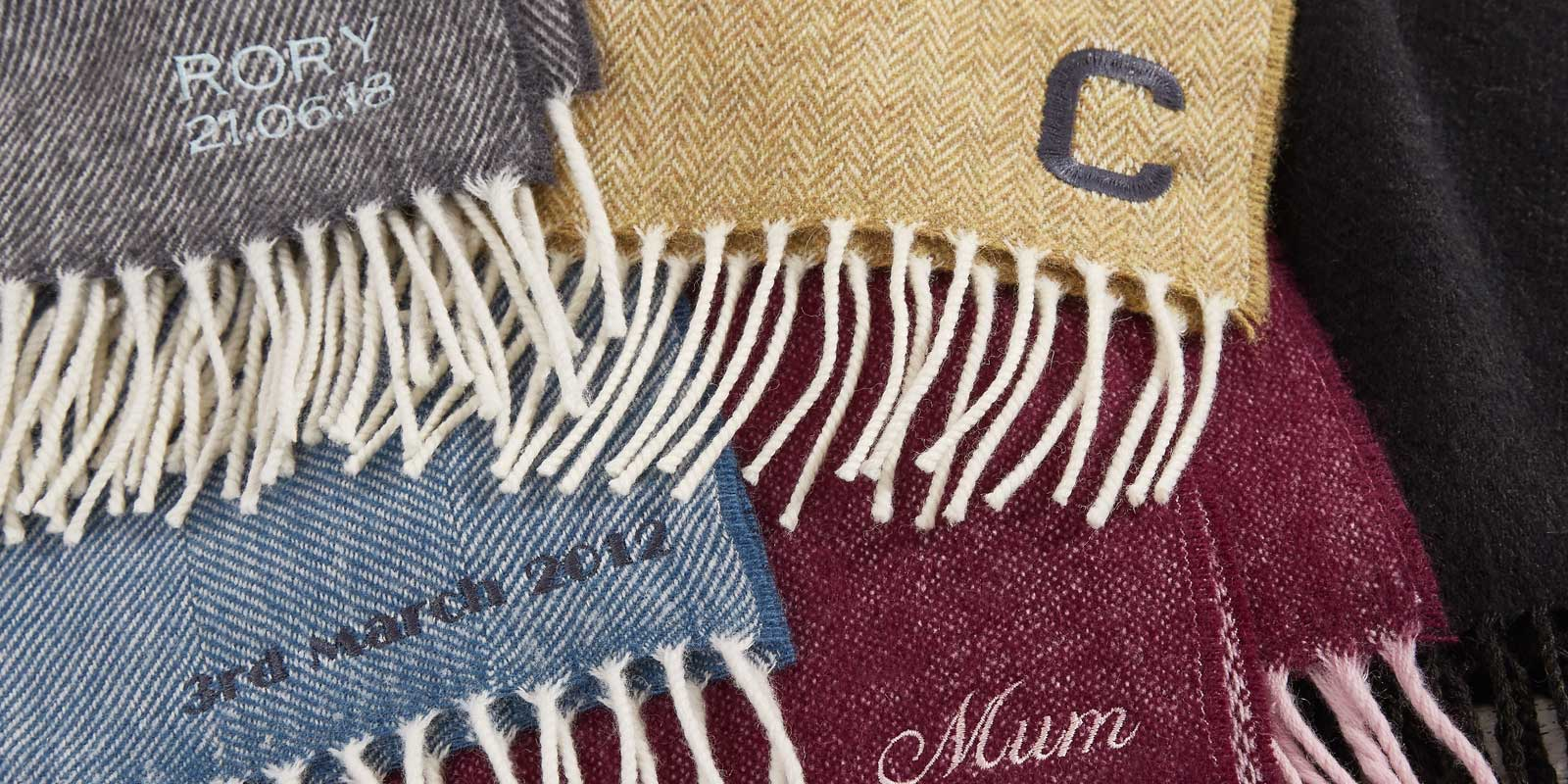 monogramed blankets and personalised throws
