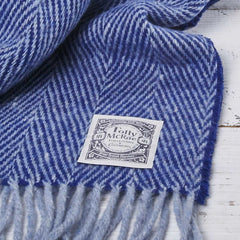royal navy blue herringbone