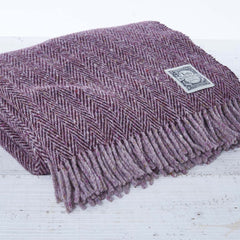 plum chunky throw