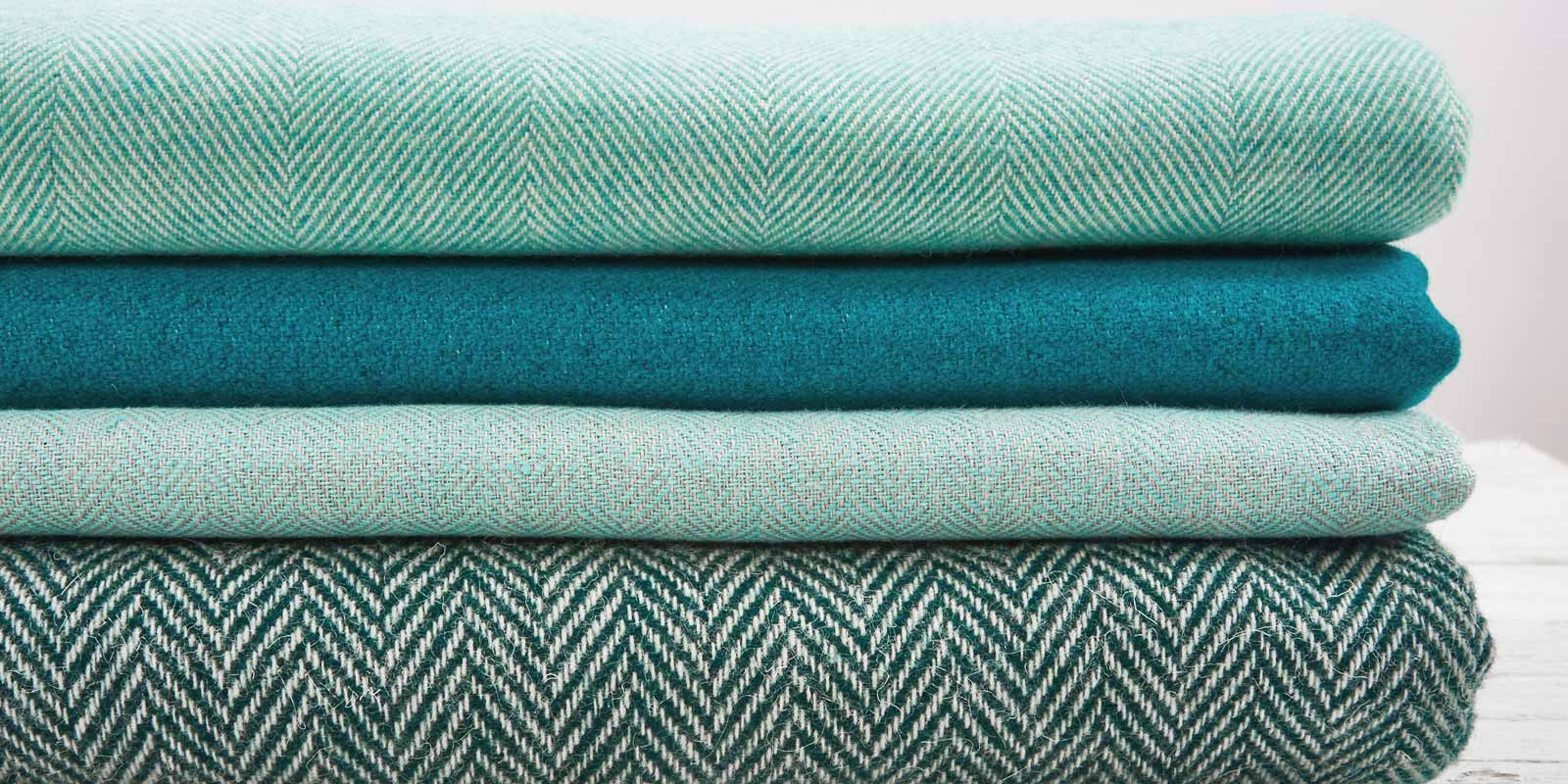 mint green throws