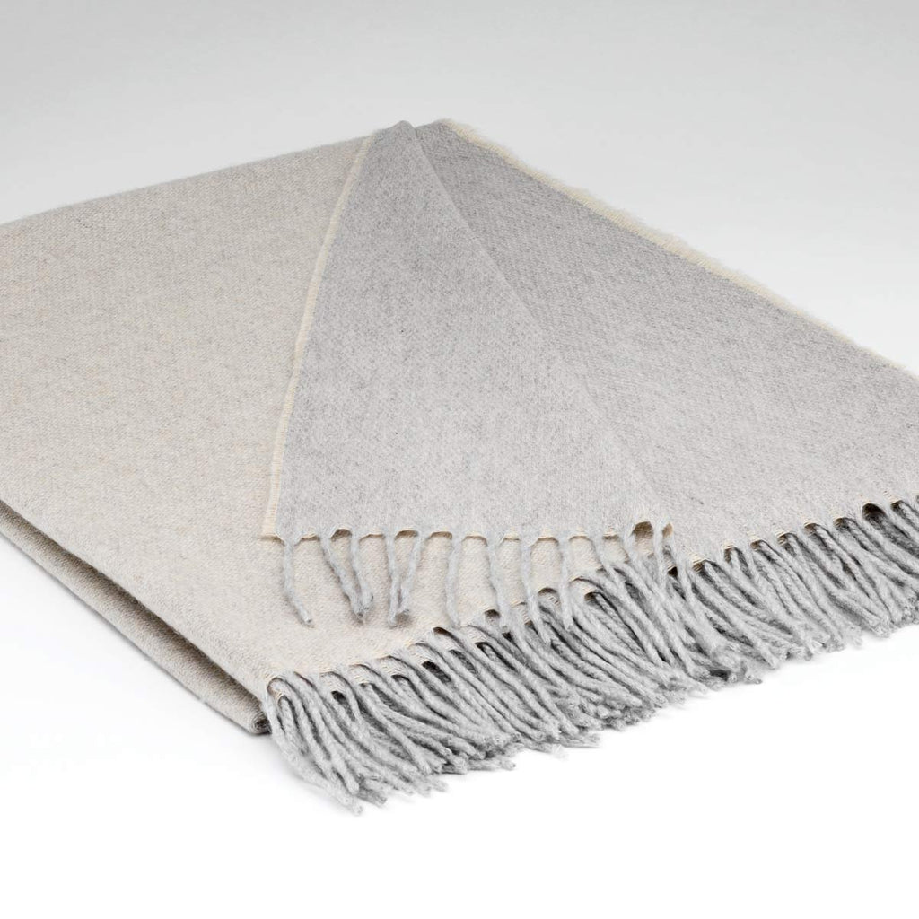 Pure Cashmere Throw - Dove Grey Two Tone - Tolly McRae