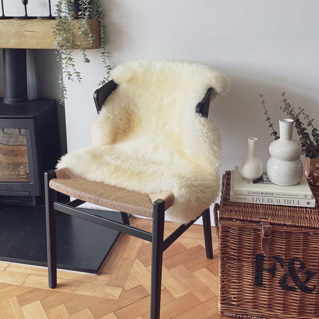 Sheepskin Rug - British Natural White Regular - Tolly McRae