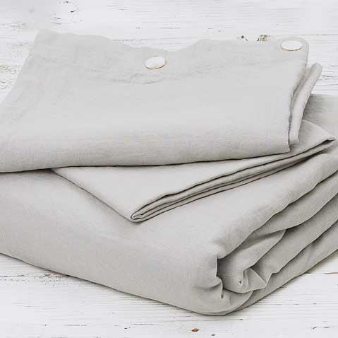 Linen Bedding Bundle - Dove Grey - Tolly McRae
