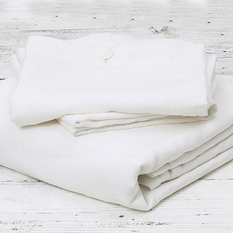 Linen Bedding Bundle - Pure White - Tolly McRae