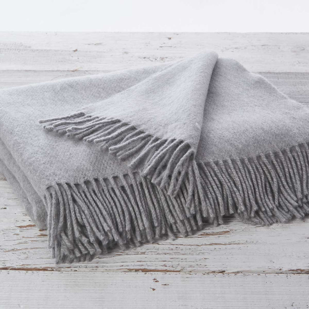 Mist Grey Throw - Cashmere Mix (custom order) - Tolly McRae