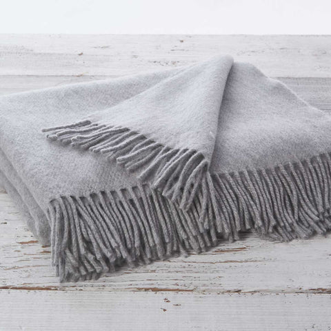 Mist Grey Throw - Cashmere Mix - Tolly McRae
