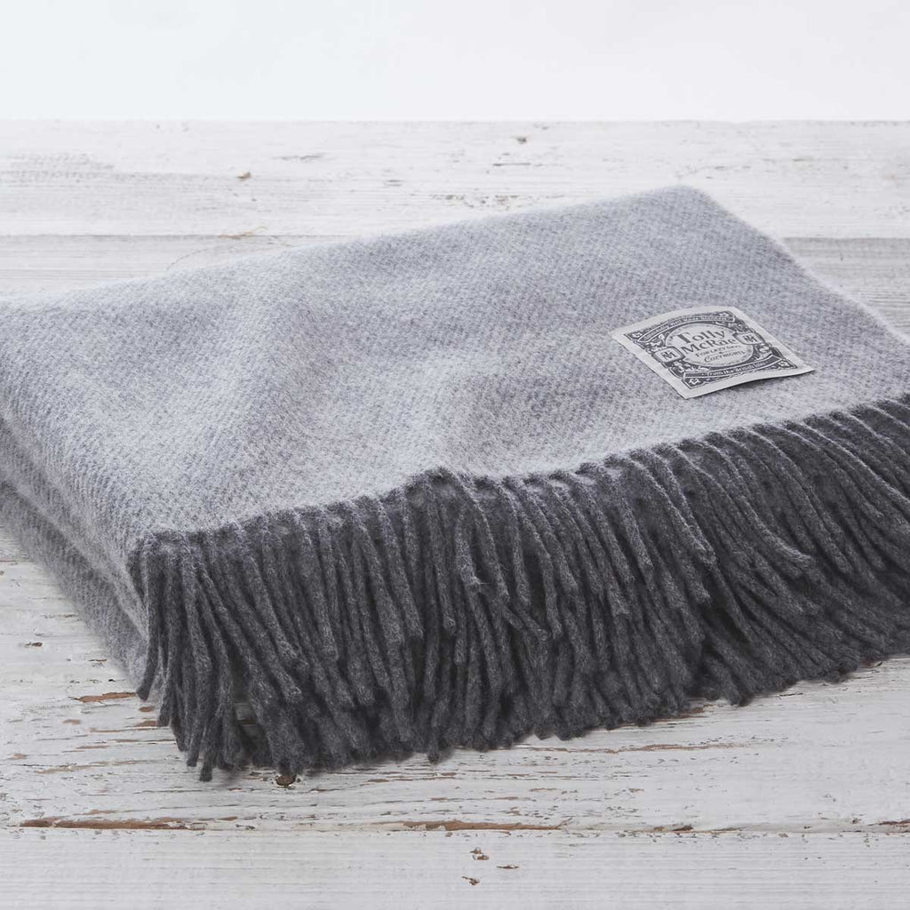 Steel Grey Throw - Cashmere Mix (custom order)