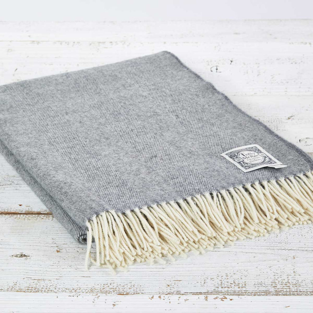Grey Throw - Hotel Collection Small, Regular, King Size & Super King Throw - Tolly McRae