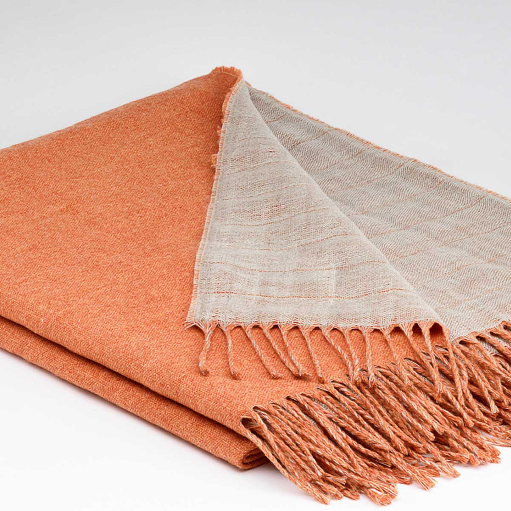 Tolly McRae orange and linen throw