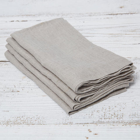 Natural Linen Napkins - Set of four in bag - Tolly McRae