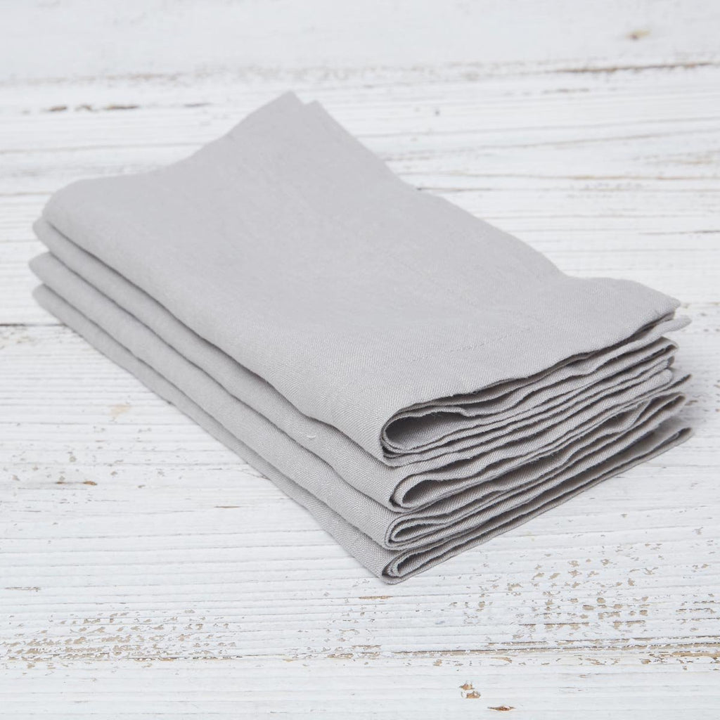 Dove Grey Linen Napkins - Set of Four - Tolly McRae