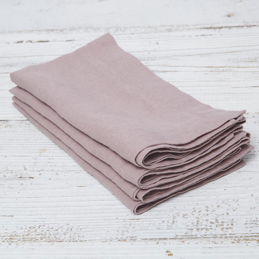 Rose Linen Placemats - Set of Four - Tolly McRae