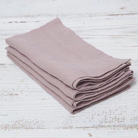 Rose Linen Napkins - Set of four in bag - Tolly McRae