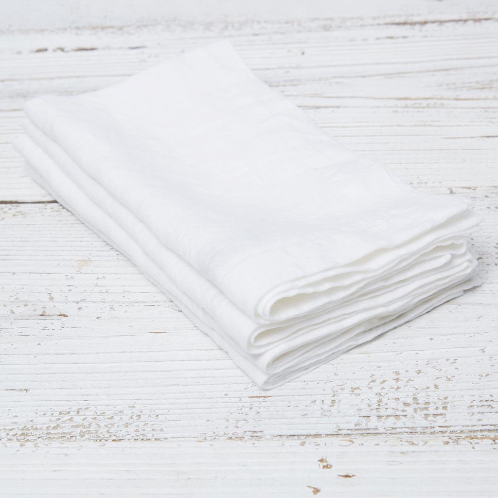 White Linen Napkins - Set of Four - Tolly McRae
