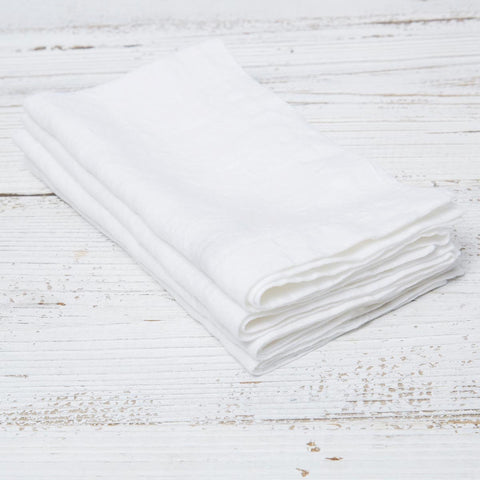White Linen Napkins - Set of four in bag - Tolly McRae