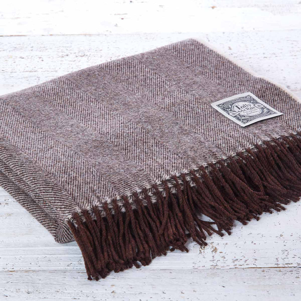 Super Soft Merino Throw - Chocolate Brownie - Tolly McRae