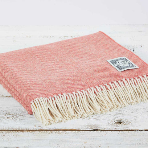 Super Soft Merino Throw - Coral - Tolly McRae