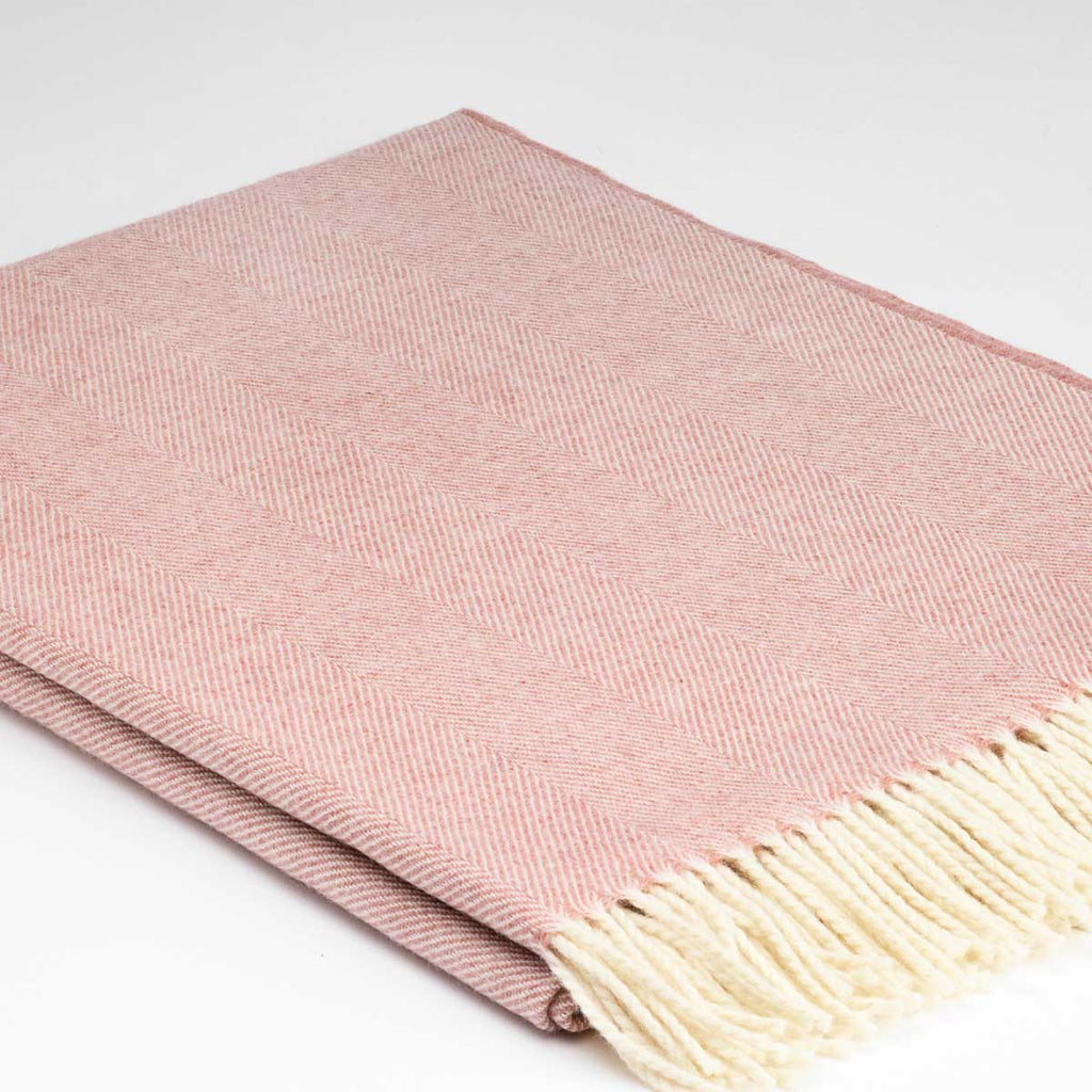 Dusky Rose Pink Throw - Hotel Collection Regular, King / Super King Size Throw - Tolly McRae