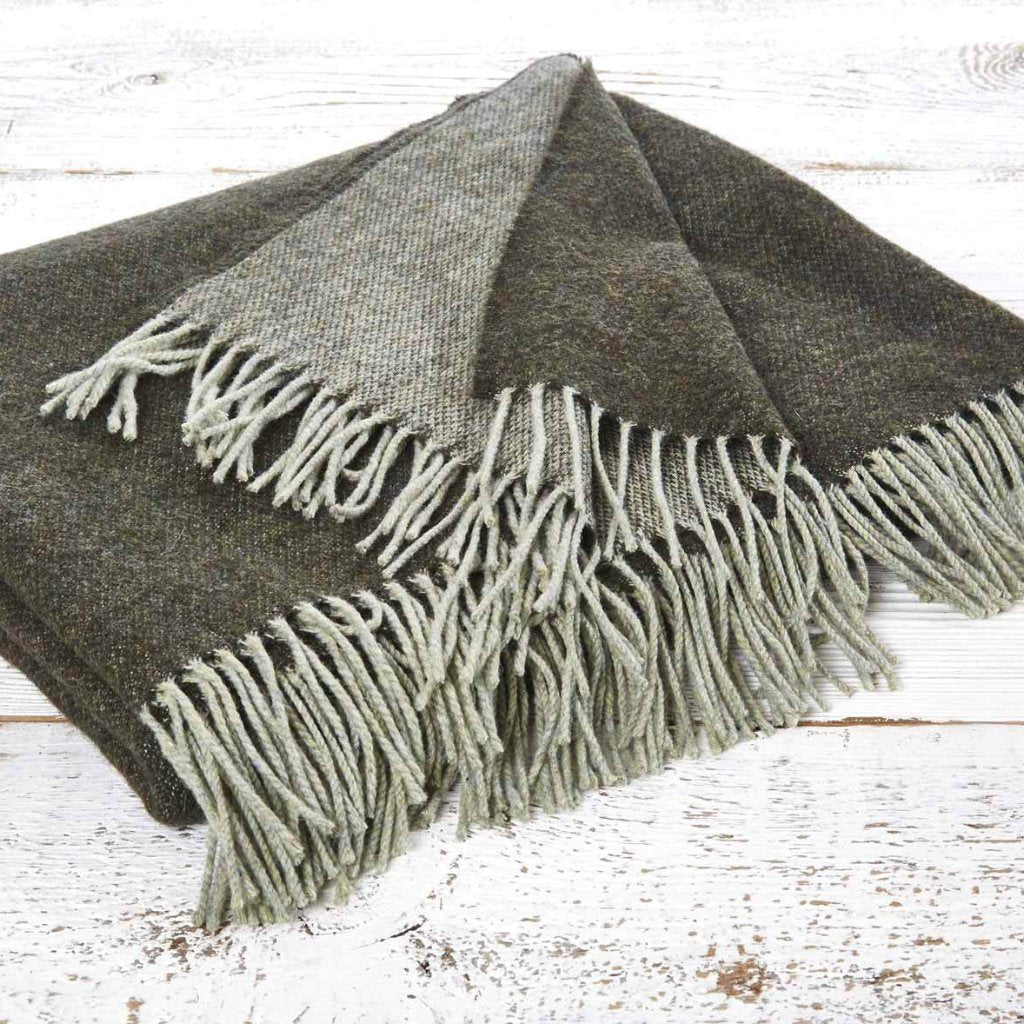 Super Soft Reversible Throw - Moss - Tolly McRae