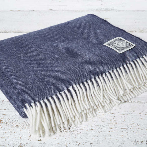 Super Soft Merino Throw - Navy Blue - Tolly McRae