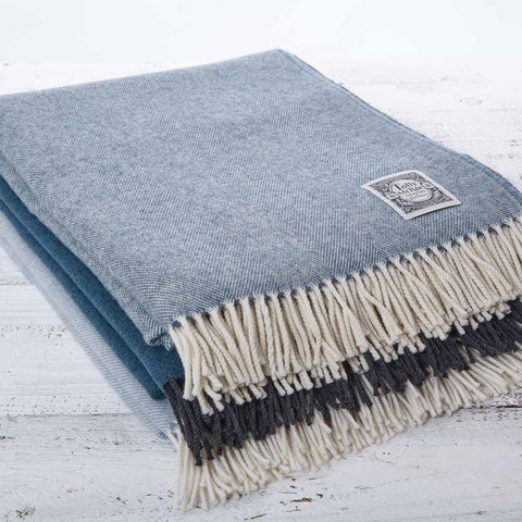 Super Soft Merino Throw - Sea Mist - Tolly McRae