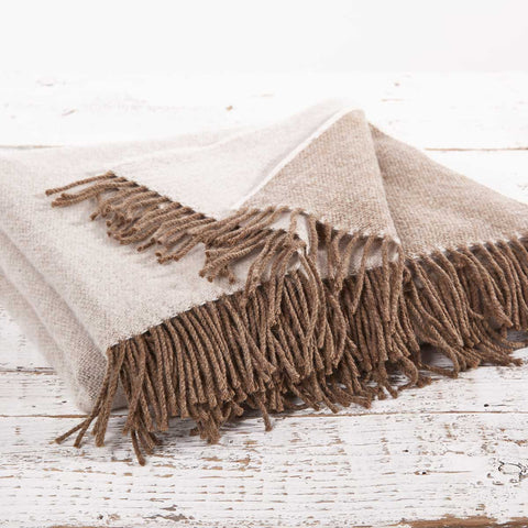 Super Soft Reversible Throw - Coffee Cream - Tolly McRae