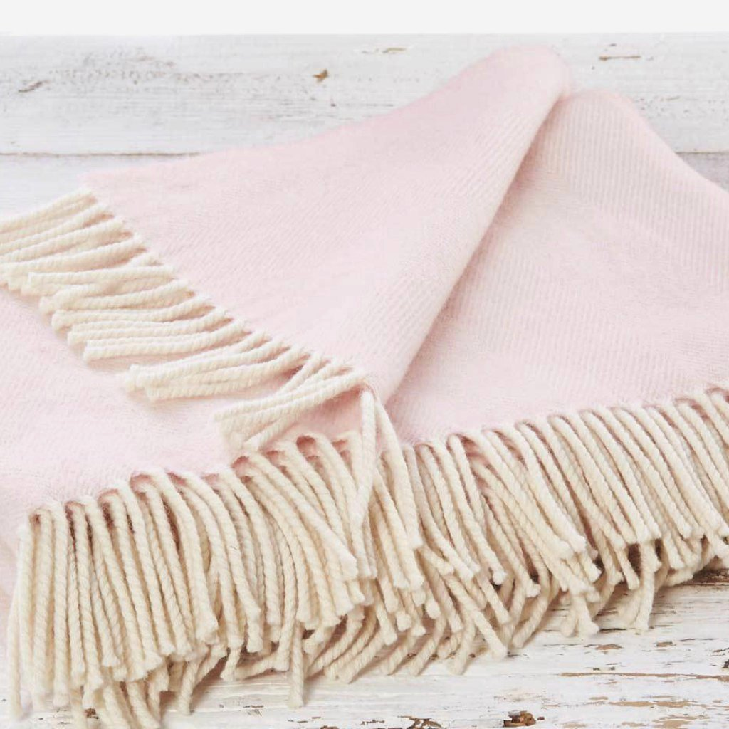 Super Soft Merino Throw - Rose Blush Pink - Tolly McRae