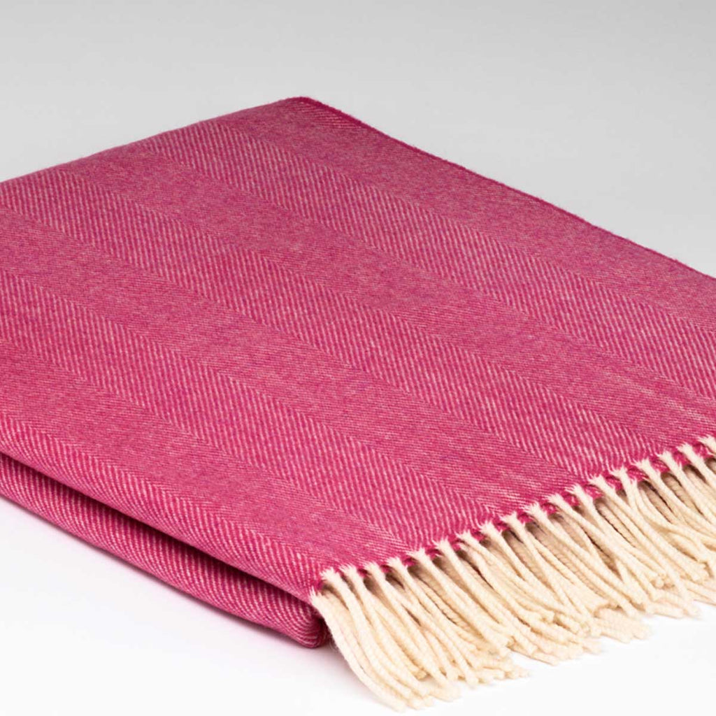 Wild Rose Pink Merino Throw
