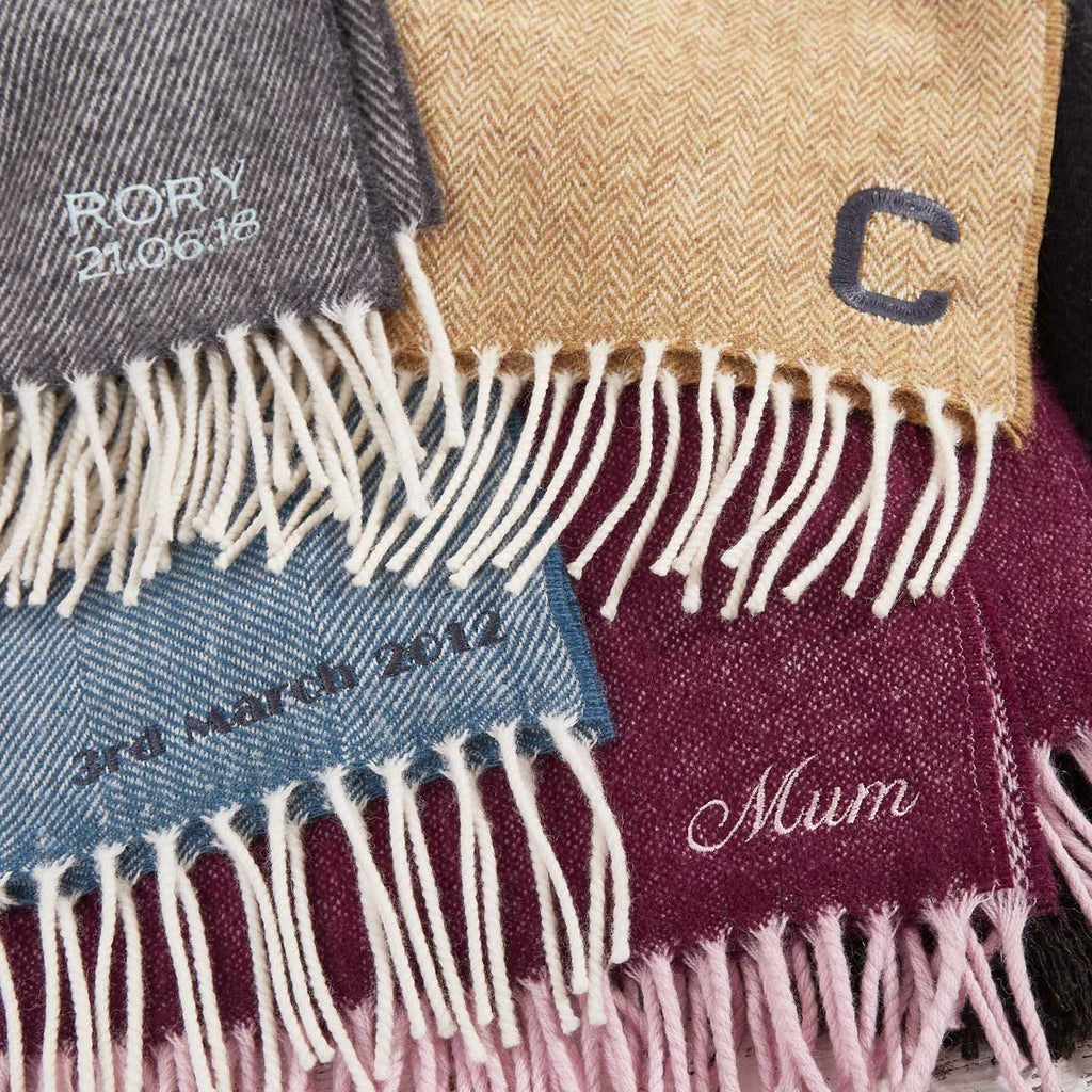 Monogrammed & Personalised Throws, Blankets and Scarves - Tolly McRae