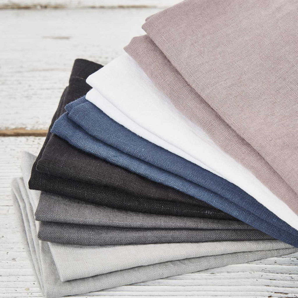 Pure Linen Napkins - Set of six in bag